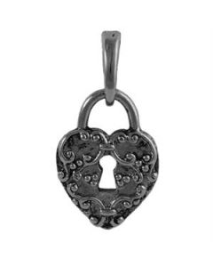 Graphite Heart Lock Droplet