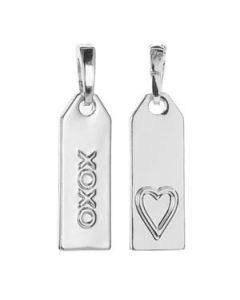 'XOXO' Silver Droplet
