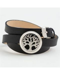 Tree of Life Oil Diffuser Bracelet with Triple Wrap