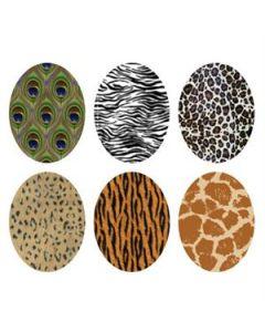 Animal Print Oval Locket Backdrops