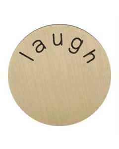 'Laugh' Medium Gold Coin