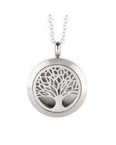 Tree Of Life Essential Oil Locket Silver